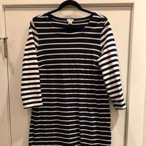 Navy Striped J. Crew Dress